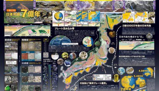 文部科学省「一家に1枚 日本列島7億年」ポスター、科学技術週間に広く配布
