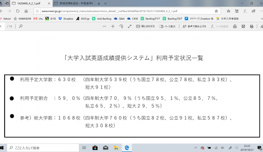 「大学入試英語成績提供システム」利用予定大学の一覧(最終版)