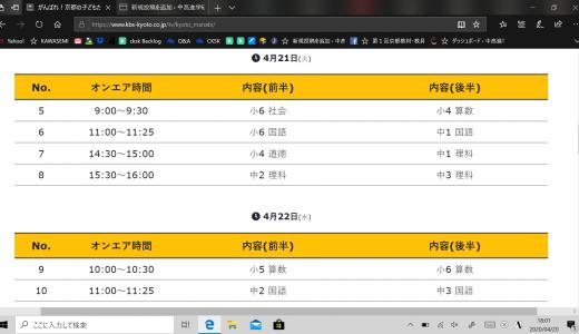 KBS京都テレビでの特別番組「がんばれ!京都の子どもたち ~オール京都で学びの支援を~」